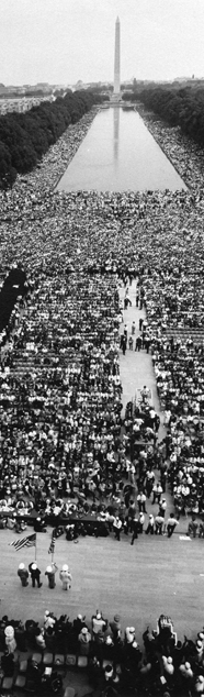 Photo of the March on Washington in 1963